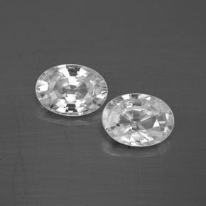 1.2ct Oval Facet White Zircon Gem (ID: 355765)