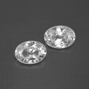 1.3ct Oval Facet White Zircon Gem (ID: 355767)