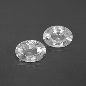 1.3ct Oval Facet White Zircon Gem (ID: 355770)