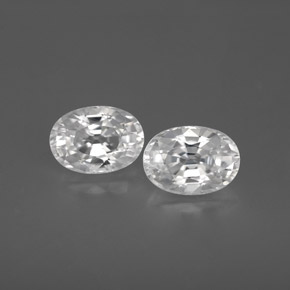 White Zircon Gem - 1.4ct Oval Facet (ID: 355771)