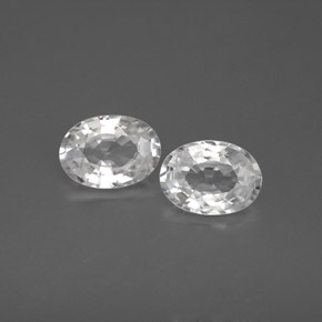 1.1ct Oval Facet White Zircon Gem (ID: 355776)