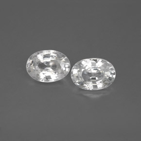 1.2ct Oval Facet White Zircon Gem (ID: 355780)