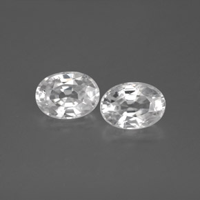 1.4ct Oval Facet White Zircon Gem (ID: 355782)
