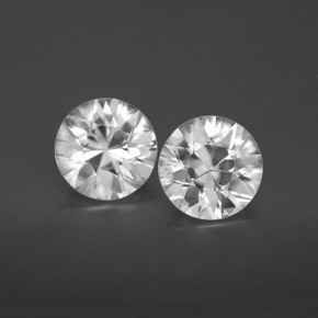 White Zircon Gem - 1.7ct Diamond-Cut (ID: 355807)