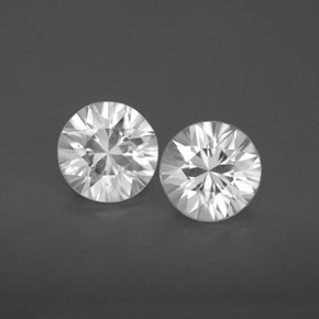 White Zircon Gem - 1.6ct Diamond-Cut (ID: 355808)
