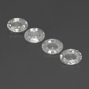 1.2ct Oval Facet White Zircon Gem (ID: 356004)