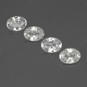 1.3ct Oval Facet White Zircon Gem (ID: 356007)