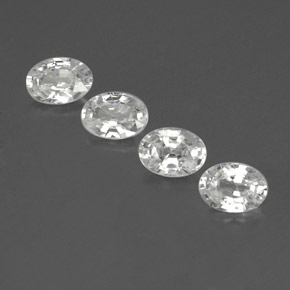 1.2ct Oval Facet White Zircon Gem (ID: 356011)