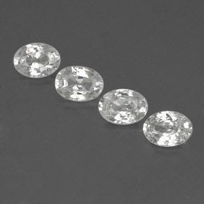 1.2ct Oval Facet White Zircon Gem (ID: 356012)