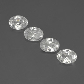 1.2ct Oval Facet White Zircon Gem (ID: 356013)