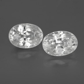 1.5ct Oval Facet White Zircon Gem (ID: 356054)