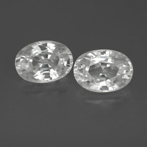 1.4ct Oval Facet White Zircon Gem (ID: 356055)