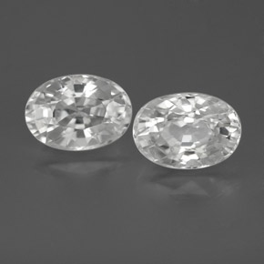 White Zircon Gem - 1.5ct Oval Facet (ID: 356056)