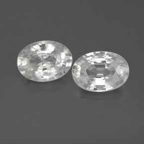 1.2ct Oval Facet White Zircon Gem (ID: 356057)