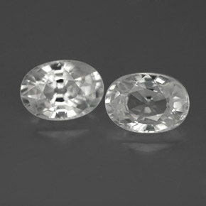 1.4ct Oval Facet White Zircon Gem (ID: 356061)