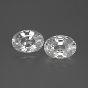1.5ct Oval Facet White Zircon Gem (ID: 356283)
