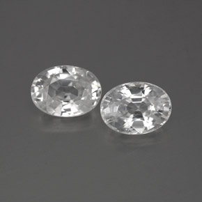 1.4ct Oval Facet White Zircon Gem (ID: 356285)