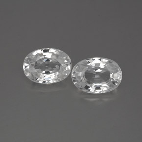 1.3ct Oval Facet White Zircon Gem (ID: 356286)