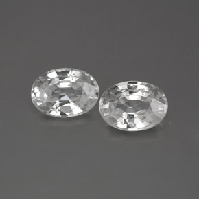 1.3ct Oval Facet White Zircon Gem (ID: 356287)