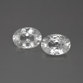 1.3ct Oval Facet White Zircon Gem (ID: 356288)