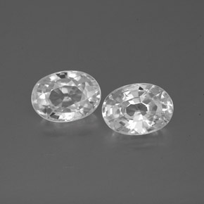 1.3ct Oval Facet White Zircon Gem (ID: 356292)