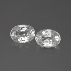 1.3ct Oval Facet White Zircon Gem (ID: 356293)
