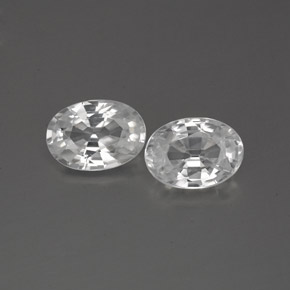 1.2ct Oval Facet White Zircon Gem (ID: 356294)