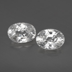 1.4ct Oval Facet White Zircon Gem (ID: 356469)