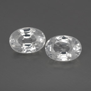 1.4ct Oval Facet White Zircon Gem (ID: 356471)