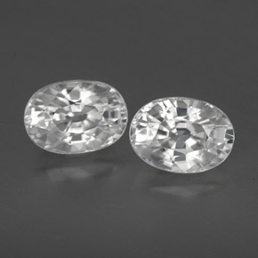 1.4ct Oval Facet White Zircon Gem (ID: 356475)