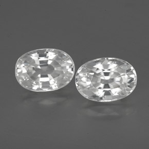 1.5ct Oval Facet White Zircon Gem (ID: 356476)