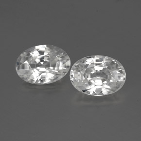 1.2ct Oval Facet White Zircon Gem (ID: 356478)