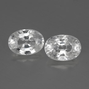 1.4ct Oval Facet White Zircon Gem (ID: 356480)