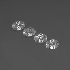 Clear White Zircon Gem - 1.2ct Oval Facet (ID: 356490)