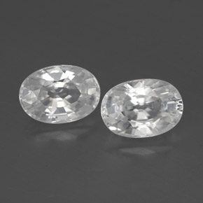 1.5ct Oval Facet White Zircon Gem (ID: 356493)