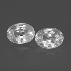 1.4ct Oval Facet White Zircon Gem (ID: 356496)