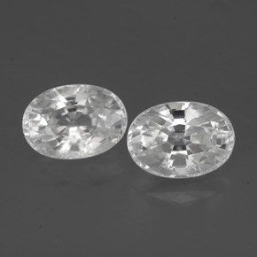 1.5ct Oval Facet White Zircon Gem (ID: 356497)