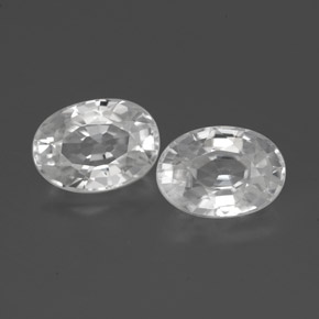 White Zircon Gem - 1.4ct Oval Facet (ID: 356498)