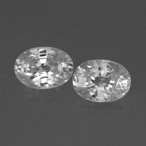 1.4ct Oval Facet White Zircon Gem (ID: 356500)