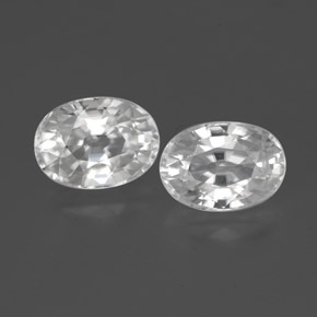 1.5ct Oval Facet White Zircon Gem (ID: 356501)