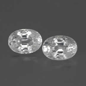 1.4ct Oval Facet White Zircon Gem (ID: 356503)