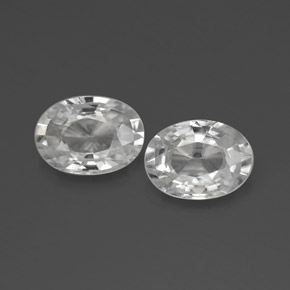 1.2ct Oval Facet White Zircon Gem (ID: 356504)