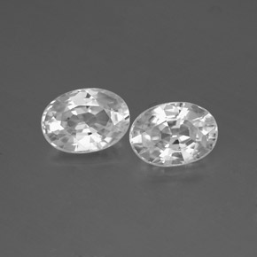 1.3ct Oval Facet White Zircon Gem (ID: 356565)