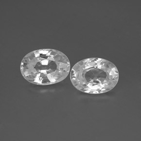 1.2ct Oval Facet White Zircon Gem (ID: 356566)