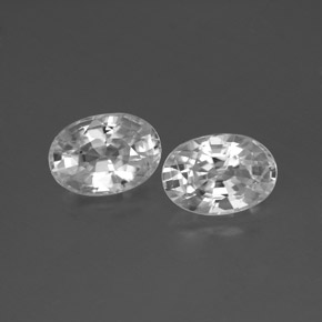 White Zircon Gem - 1.4ct Oval Facet (ID: 356567)