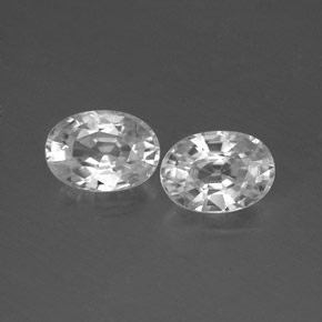 1.4ct Oval Facet White Zircon Gem (ID: 356570)