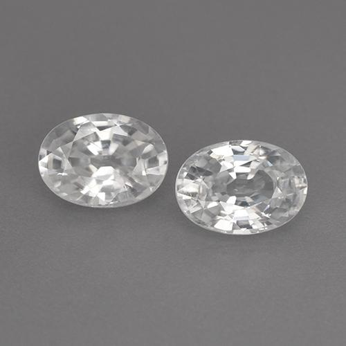 White Zircon Gem - 1.3ct Oval Facet (ID: 356572)