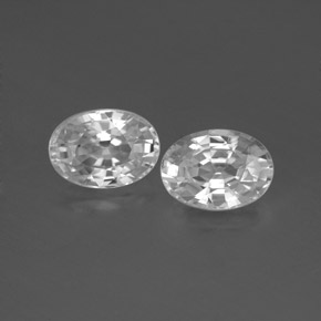 1.3ct Oval Facet White Zircon Gem (ID: 356574)