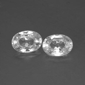1.4ct Oval Facet White Zircon Gem (ID: 356575)