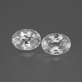 White Zircon Gem - 1.4ct Oval Facet (ID: 356576)